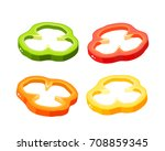 hamburger ingredient. sliced... | Shutterstock .eps vector #708859345
