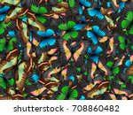 seamless pattern with lot of... | Shutterstock . vector #708860482