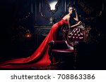 magnificent young woman in... | Shutterstock . vector #708863386