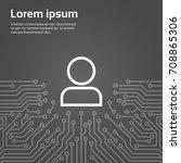 user icon member over computer...   Shutterstock .eps vector #708865306