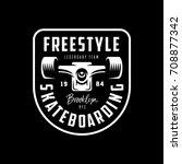 skateboarding t shirt design.... | Shutterstock .eps vector #708877342