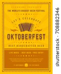 oktoberfest beer festival... | Shutterstock .eps vector #708882346