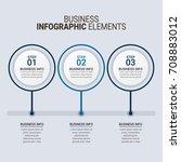 modern infographic timeline... | Shutterstock .eps vector #708883012