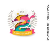 two years anniversary logo... | Shutterstock .eps vector #708884902