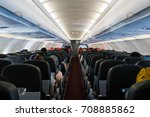 inside an aircraft | Shutterstock . vector #708885862