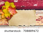 bright colorful autumn leaves... | Shutterstock . vector #708889672