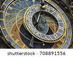prague astronomical clock | Shutterstock . vector #708891556