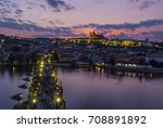 prague castle and charles... | Shutterstock . vector #708891892