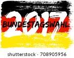german flag paint brush strokes ... | Shutterstock .eps vector #708905956