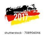 german flag paint brush strokes ... | Shutterstock .eps vector #708906046