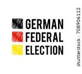 german flag paint brush strokes ... | Shutterstock .eps vector #708906112