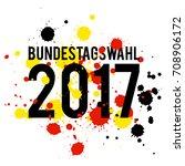 german flag paint brush strokes ... | Shutterstock .eps vector #708906172