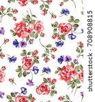 flowers pattern.. for textile ... | Shutterstock . vector #708908815