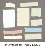 white and colorful striped note ... | Shutterstock .eps vector #708912232