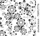 black and white abstract simple ... | Shutterstock .eps vector #708917776