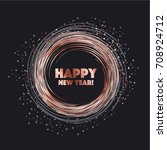 sparkling circle vector...   Shutterstock .eps vector #708924712