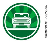green car icon  vector... | Shutterstock .eps vector #70892806
