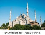 the world famous blue mosque in ... | Shutterstock . vector #708944446