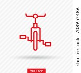 bike cycle line vector icon | Shutterstock .eps vector #708952486
