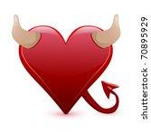 heart devil vector illustration | Shutterstock .eps vector #70895929