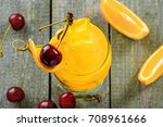 delicious fruit punch cocktail...   Shutterstock . vector #708961666
