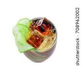alcoholic cocktail kreuzberger...   Shutterstock . vector #708962002