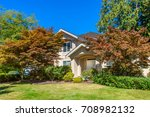 luxury house in vancouver ... | Shutterstock . vector #708982132