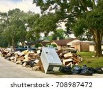 Small photo of Texan homeowners start repairing and rebuilding houses that were damaged by the floods during Hurricane Harvey in Houston, Texas.