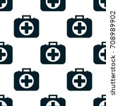 seamless pattern of the first... | Shutterstock .eps vector #708989902