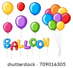 Colorful Balloons With Word...