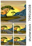 scenes of road to countryside... | Shutterstock .eps vector #709016338