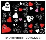 emo texture  vector  | Shutterstock .eps vector #70902217