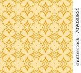 seamless floral geometric... | Shutterstock . vector #709030825