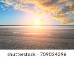 beautiful sky cloud and asphalt ... | Shutterstock . vector #709034296