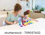 teacher woman learn ... | Shutterstock . vector #709037632