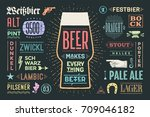poster or banner with text beer ... | Shutterstock .eps vector #709046182