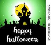 halloween vector card or... | Shutterstock .eps vector #709046632