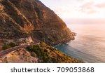roadtrip in beautiful landscape.... | Shutterstock . vector #709053868