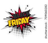 lettering black friday... | Shutterstock .eps vector #709060282
