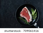 raw fresh entrecote beef in a... | Shutterstock . vector #709061416