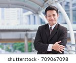 portrait of young asian... | Shutterstock . vector #709067098