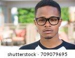closeup headshot portrait of... | Shutterstock . vector #709079695