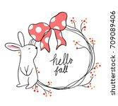 cute draw vector illustration...   Shutterstock .eps vector #709089406