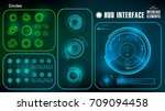 futuristic green blue virtual...