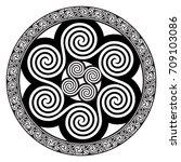 celtic design   spiral celtic... | Shutterstock .eps vector #709103086