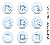 document web icons set 2 ... | Shutterstock .eps vector #70910428