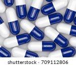 3d render of generic drug pills ... | Shutterstock . vector #709112806