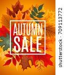 abstract  illustration autumn...   Shutterstock . vector #709113772