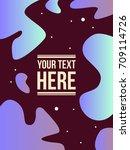 style fluid cover design modern ... | Shutterstock .eps vector #709114726