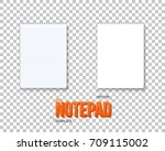 illustration of vector notepad... | Shutterstock .eps vector #709115002